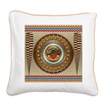 Aztec-ish Decor Square Canvas Pillow