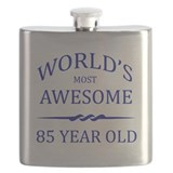 85th birthday Flask Bottles