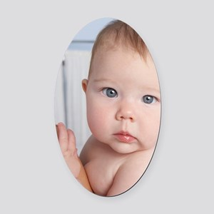 Baby girl - Oval Car Magnet