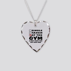 No Time For Your Crap Necklace Heart Charm