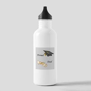 Proud Dad of a Graduate Water Bottle