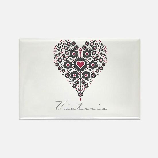 Love Victoria Rectangle Magnet