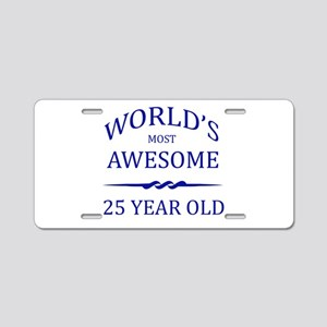 World's Most Awesome 25 Year Old Aluminum License