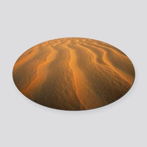 Ripples in sand - Oval Car Magnet
