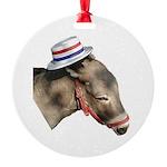 Democratic hat donkey Ornament