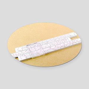 Logarithmic slide rule - Oval Car Magnet
