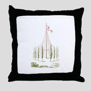 Maypole Throw Pillow