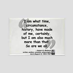 Baldwin More Quote Rectangle Magnet