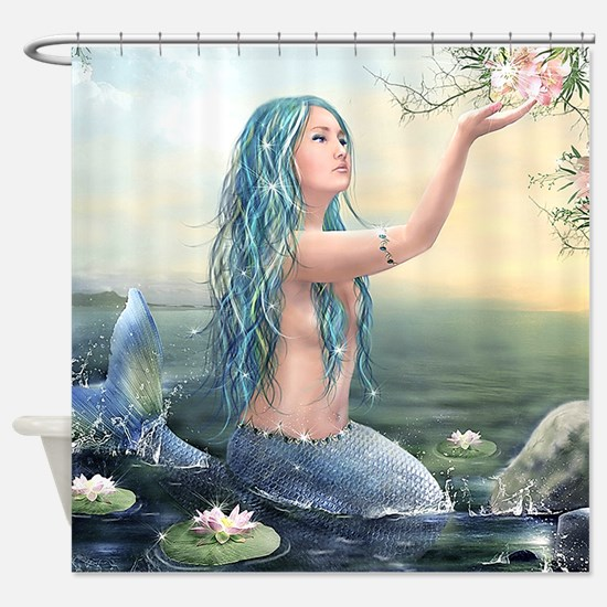 Beautiful Mermaid Shower Curtain