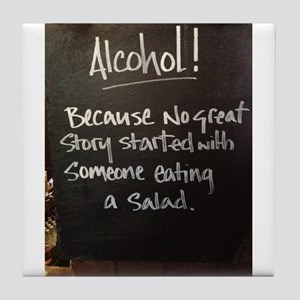 The truth about Alcohol Tile Coaster