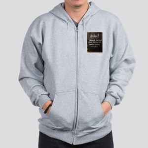 The truth about Alcohol Zip Hoodie