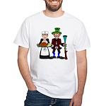 Masonic/OES Thanksgiving Pilgrims White T-Shirt