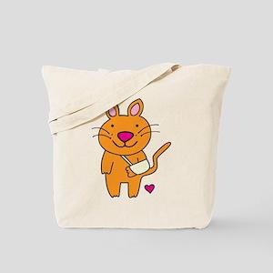 Broken Kitty Tote Bag