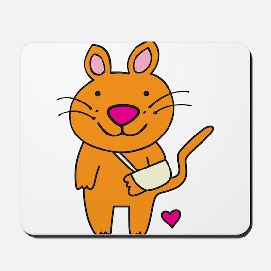 Broken Kitty Mousepad