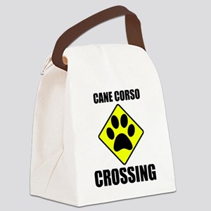 Cane Corso Crossing Canvas Lunch Bag