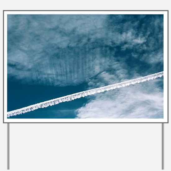 Aeroplane contrail - Yard Sign