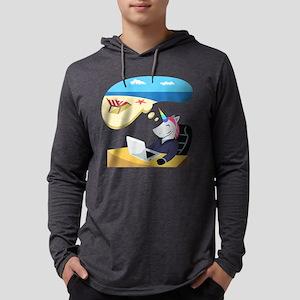Emoji Unicorn Day Dreaming Mens Hooded Shirt