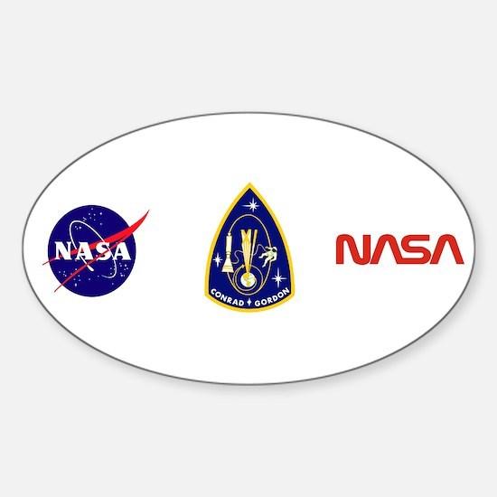 Gemini 11 Conrad/Gordon Sticker (Oval)