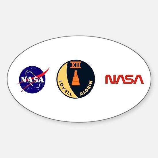 Gemini 12 Lovell/Aldrin Sticker (Oval)