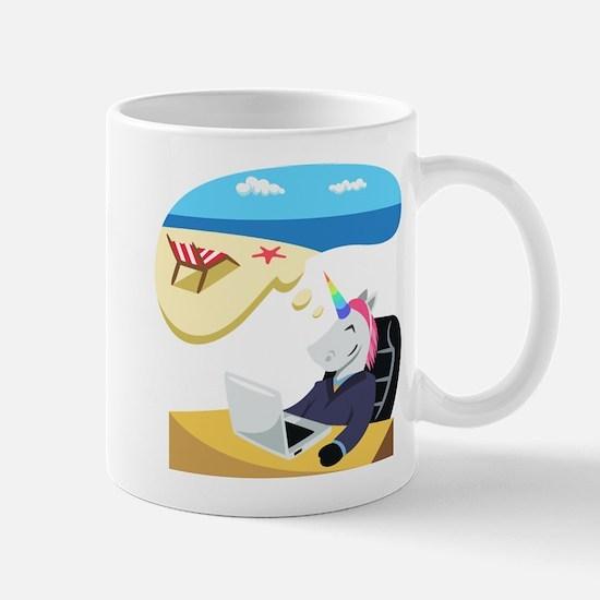 Emoji Unicorn Day Dreaming Mug