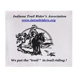 Indiana Trail Riders logo Throw Blanket