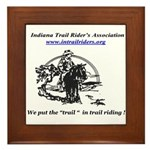 Indiana Trail Riders logo Framed Tile