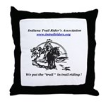 Indiana Trail Riders logo Throw Pillow