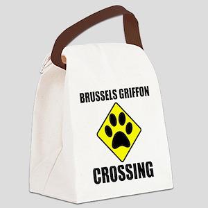 Brussels Griffon Crossing Canvas Lunch Bag