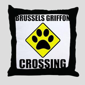 Brussels Griffon Crossing Throw Pillow