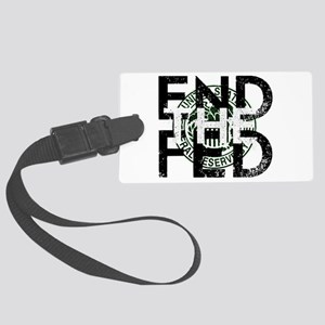 End the Fed Green Luggage Tag