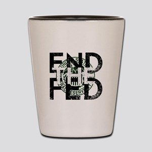 End the Fed Green Shot Glass