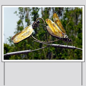 Sculpture of two dragonflies - Yard Sign