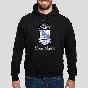 Phi Beta Sigma Crest Personalized Hoodie (dark)