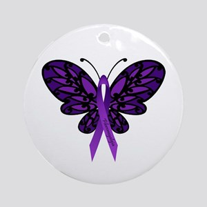 Fibromyalgia Awareness Ornament (Round)