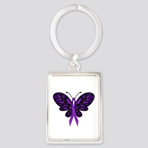 Fibromyalgia Awareness Portrait Keychain