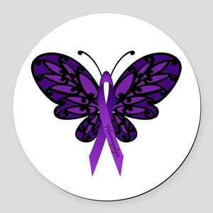 Fibromyalgia Awareness Round Car Magnet