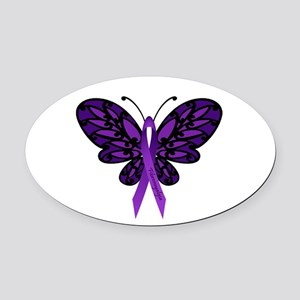 Fibromyalgia Awareness Oval Car Magnet