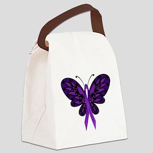 Fibromyalgia Awareness Canvas Lunch Bag