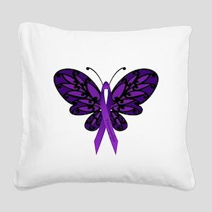 Fibromyalgia Awareness Square Canvas Pillow