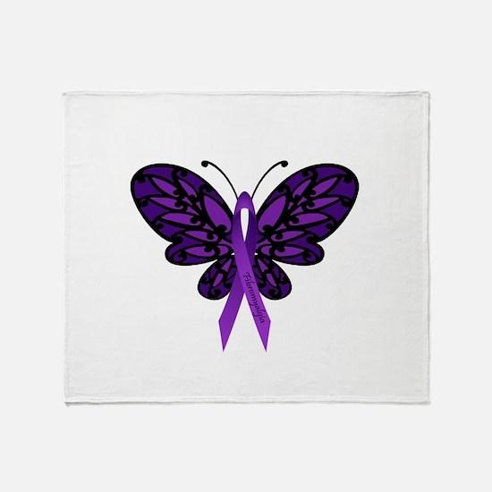 Fibromyalgia Awareness Throw Blanket