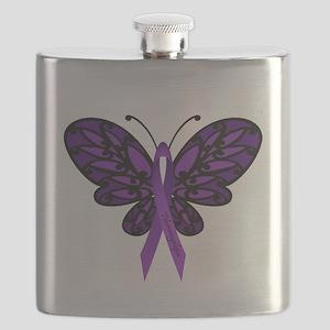 Fibromyalgia Awareness Flask