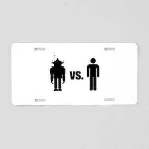 Robot VS Human Aluminum License Plate