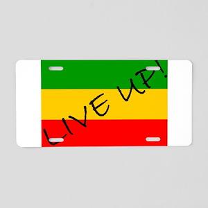 Live Up! Aluminum License Plate