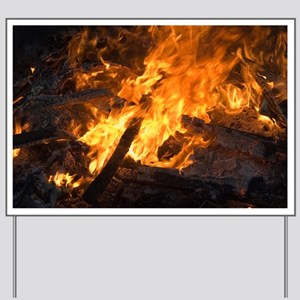 Flames from a bonfire - Yard Sign