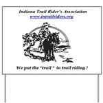 Indiana Trail Riders logo Yard Sign
