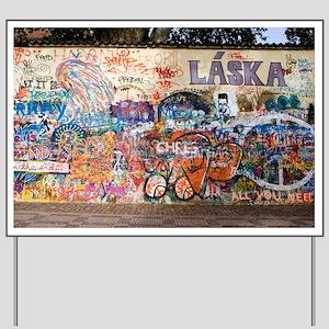 Lennon Wall, Prague - Yard Sign