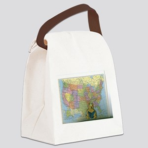 I Can Read To The United States. Canvas Lunch Bag