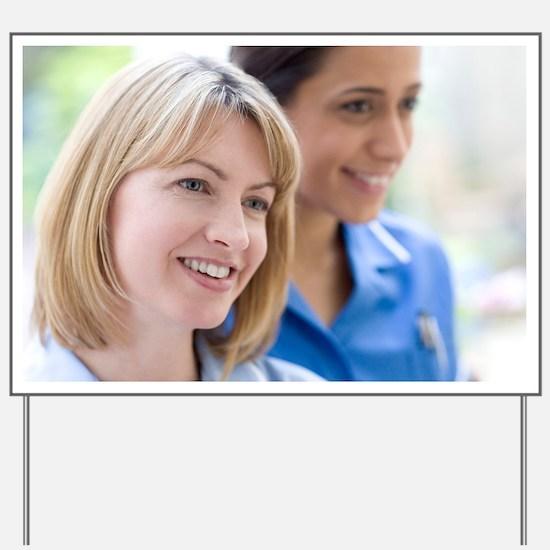 Nurses smiling - Yard Sign