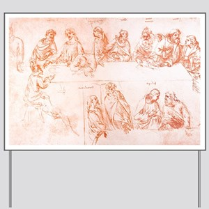 Sketch for the Last Supper - Yard Sign