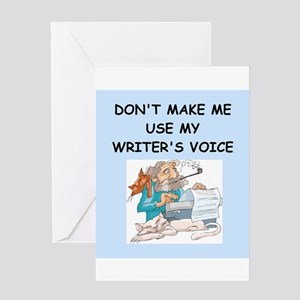 Angry writer greeting cards cafepress writer greeting card m4hsunfo